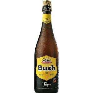 BIÈRE BRASSERIE DUBUISSON Bush Triple Bière Blonde - 75