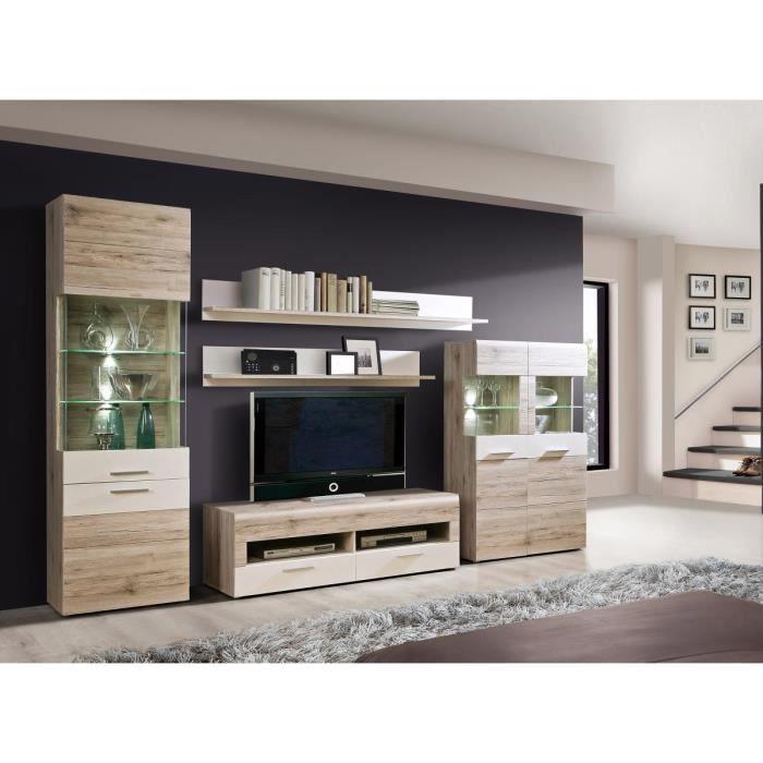 nabou meuble tv mural 319x207 cm ch ne cendr achat
