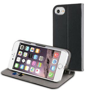 HOUSSE - ÉTUI Muvit Etui Folio Fit Cuir Noir pour Apple iPhone 7