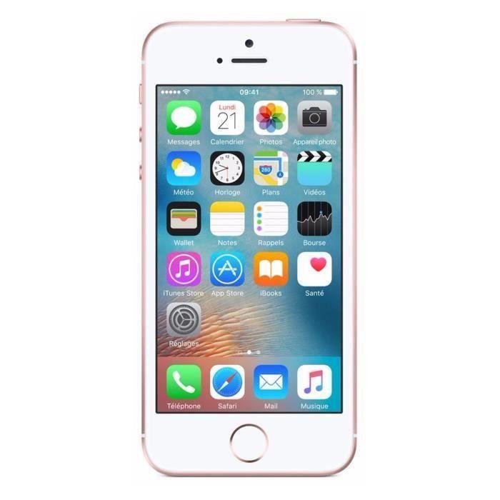 SMARTPHONE APPLE iPhone SE Rose Or 128 Go