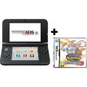 CONSOLE 3DS 3DS XL ARGENT NOIR + POKEMON VERSION BLANCHE 2