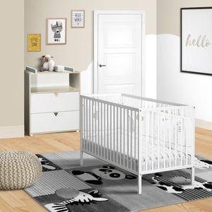 CHAMBRE COMPLÈTE BÉBÉ BABYPRICE ENZO Duo lit bébé 60 x 120 cm et commode