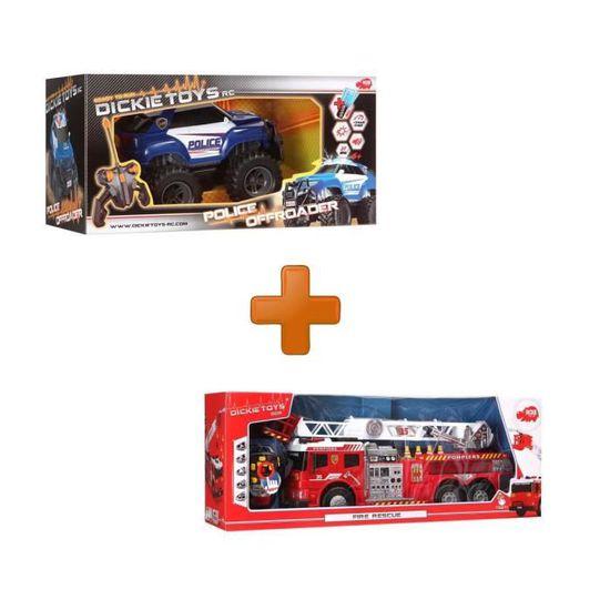 Pack De Police Toys Camion Dickie PompierVoiture fY6byv7g