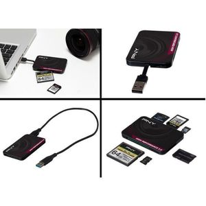LECTEUR DE CARTE EXT. PNY  Lecteur de carte mémoire Multi formats USB 3.