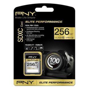 CARTE MÉMOIRE PNY Elite Performance Carte Mémoire SDXC 256 Go Cl