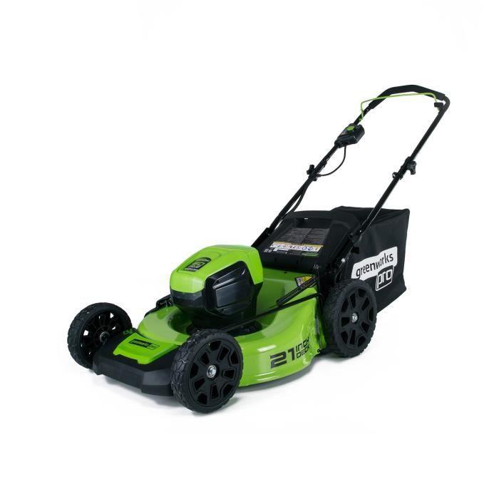 GREENWORKS Tondeuse électrique GD60LM46HPK4 - 60 V - 46 cm - Moteur ... dd4c64aaf094