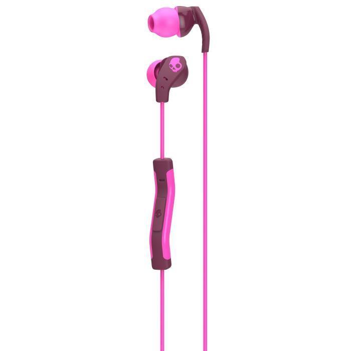 Skullcandy Écouteurs Intra-auriculaires Method - Avec Micro Bordeaux Et Rose