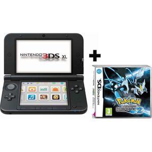 CONSOLE DS LITE - DSI 3DS XL ARGENT NOIR + POKEMON VERSION NOIRE 2