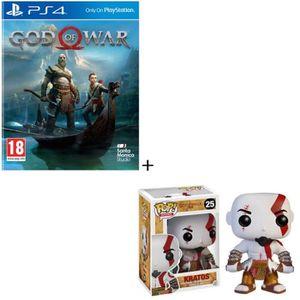 PACK ACCESSOIRE God of War Jeu PS4 + Figurine Funko Pop! God of Wa