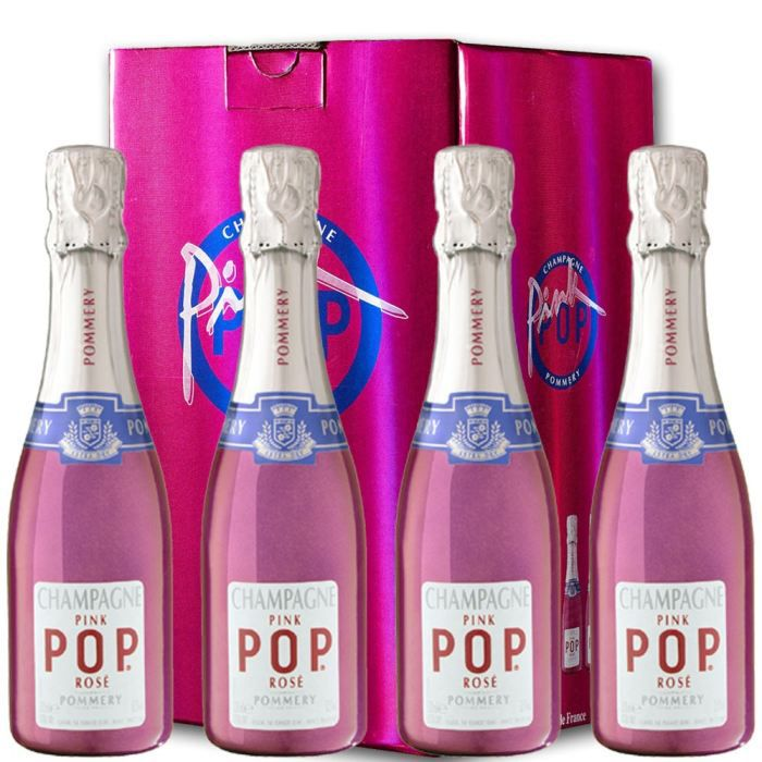 CHAMPAGNE Champagne Pommery Pink Pop : 4 bouteilles 20cl.