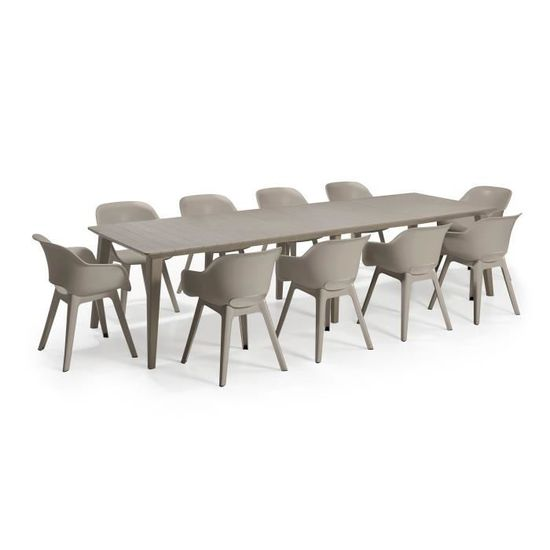 Cappucino 320 Lima Personnes Jardin Allonge Table 8 10 Allibert Design Contemporain Avec vN8mn0w
