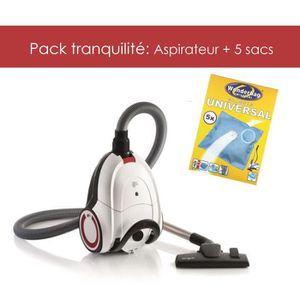 LOT APPAREIL ENTRETIEN Pack tranquilité: Aspirateur Dirt Devil + 5 sacs W