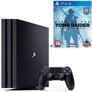CONSOLE PS4 NOUVEAUTÉ Pack PS4 Pro 1To Noire + Rise Of The Tomb Raider 2