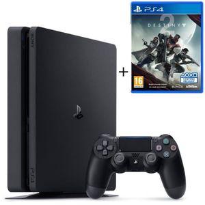 CONSOLE PS4 NOUVEAUTÉ Nouvelle PS4 Slim 500 Go Noire + 2 Jeux : Destiny