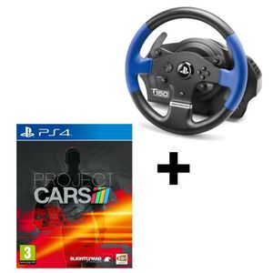 JOYSTICK - MANETTE Thrustmaster T150 RS + Project Cars jeu PS4