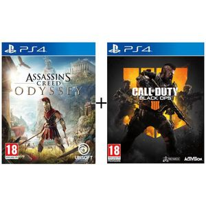 JEU PS4 Pack 2 jeux PS4 : Assassin's Creed Odyssey + Call