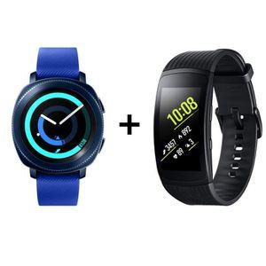 MONTRE CONNECTÉE RECONDITIONNÉE Samsung Gear Sport Bleu Nuit + Samsung Gear Fit 2