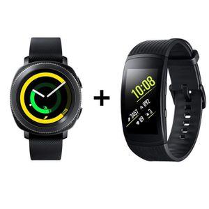 MONTRE CONNECTÉE RECONDITIONNÉE Samsung Gear Sport Gris Acier + Samsung Gear Fit 2