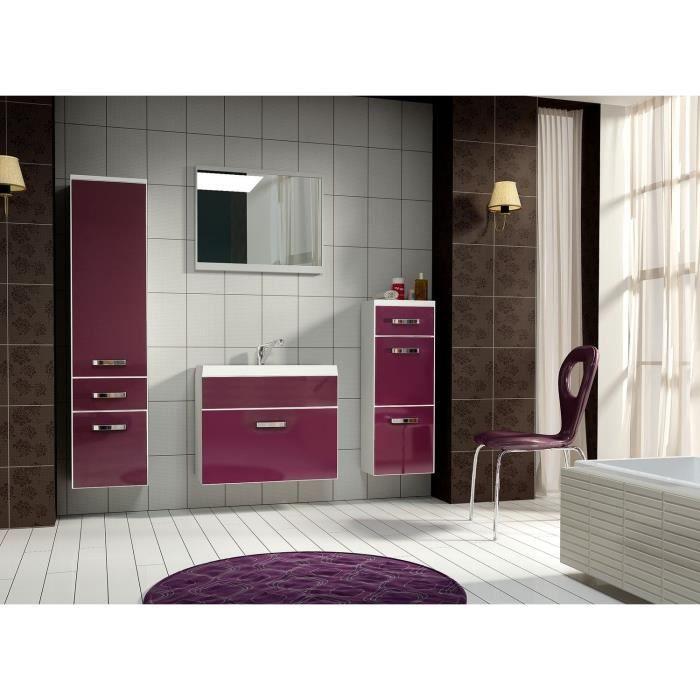ensemble meuble salle de bain violet achat vente. Black Bedroom Furniture Sets. Home Design Ideas