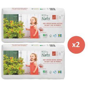 COUCHE Naty lot de 2 paquets de couches écologiques T4 +