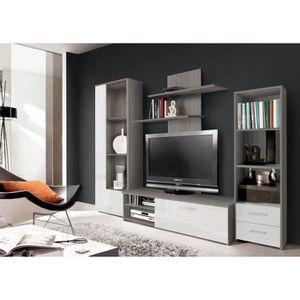 Quelle hauteur pour un meuble tv suspendu cdiscount for Finlandek meuble tv mural katso 160cm blanc et noir