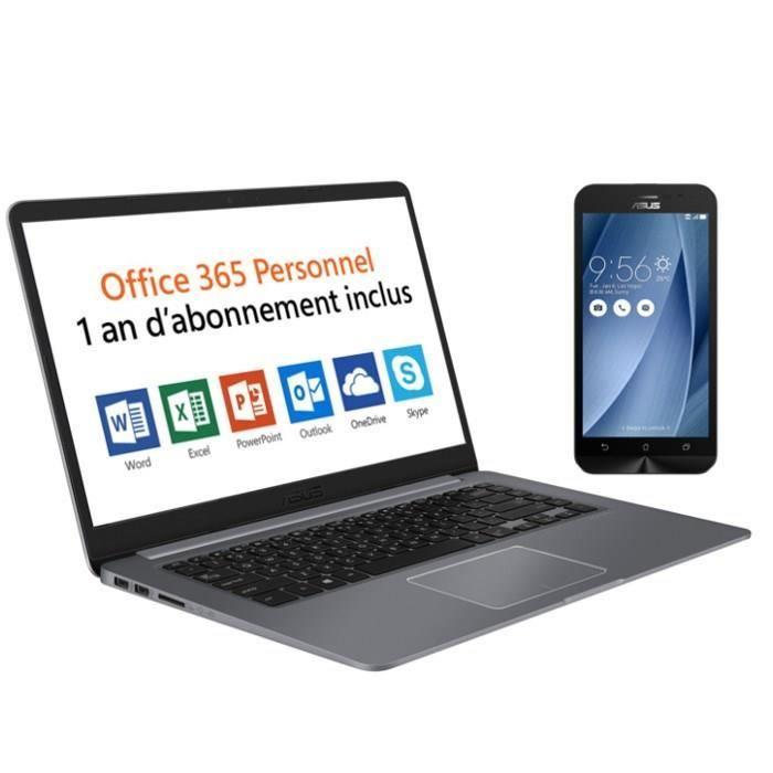 """ORDINATEUR PORTABLE Pack ASUS PC Portable R520UA-BR580T 15,6"""" - 4GoRAM"""