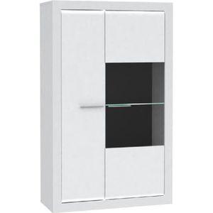 VITRINE - ARGENTIER L-LIGHT Vitrine style contemporain mélaminé blanc
