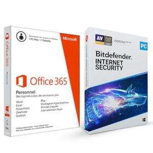 BUREAUTIQUE Microsoft Office 365 Personnel 1 an / 1 utilisateu