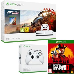 CONSOLE XBOX ONE Xbox One S 1 To Forza + 2e manette + Red Dead Rede