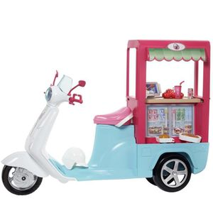 POUPÉE BARBIE - Scooter Bistrot