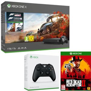 CONSOLE XBOX ONE Xbox One X 1 To Forza + 2e manette + Red Dead Rede