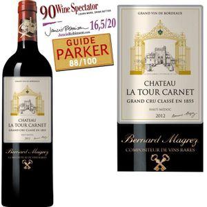 VIN ROUGE Château La Tour Carnet Haut-Médoc 2012 - Vin ro...