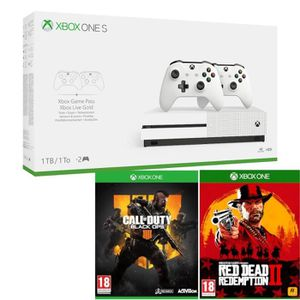 CONSOLE XBOX ONE Xbox One S 1To 2 manettes + Red Dead Redemption 2