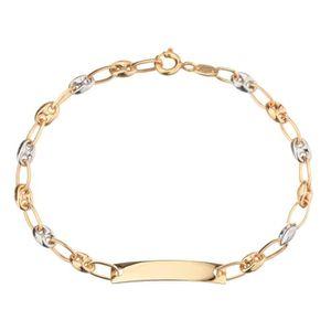 BRACELET - GOURMETTE LES BIJOUX D'EMMA Bracelet Identité Or bicolore 37