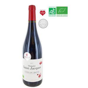 VIN ROUGE Domaine Saint Jacques 2017 Côtes du Rhône - Vin Ro
