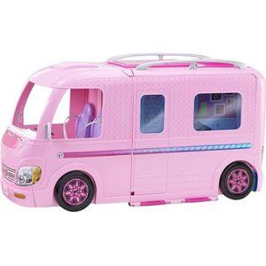 camping car barbie achat vente jeux et jouets pas chers. Black Bedroom Furniture Sets. Home Design Ideas