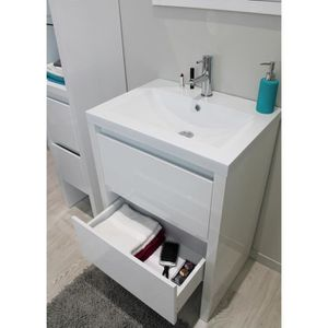meuble salle de bain avec vasque 80 cm achat vente. Black Bedroom Furniture Sets. Home Design Ideas