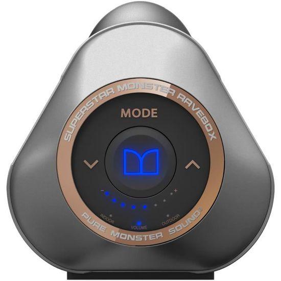 MONSTER SUPERSTAR BLASTER RAVEBOX Enceinte portable Bluetooth avec Kaléidoscope type Boombox - enceinte nomade, avis et prix pas cher - Cdiscount
