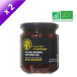 OLIVE Olives noires naturelles - Bio - 2x 130 g