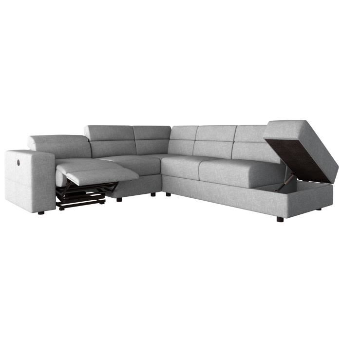 CANAPÉ - SOFA - DIVAN TILIO Canapé de relaxation électrique angle droit