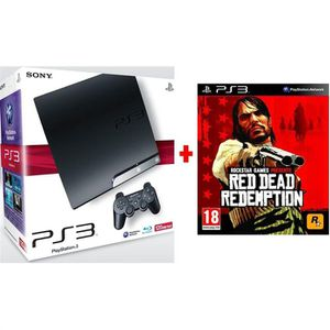CONSOLE PS3 SONY PS3 SLIM 120 Go RED DEAD REDEMPTION