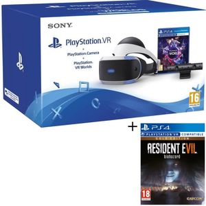 PACK ACCESSOIRE PlayStation VR + PlayStation Caméra + 2 Jeux PS4 :