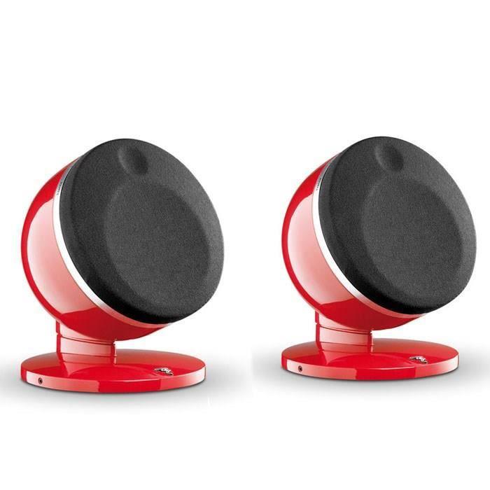 focal dome enceintes satellite hifi rouge la paire. Black Bedroom Furniture Sets. Home Design Ideas