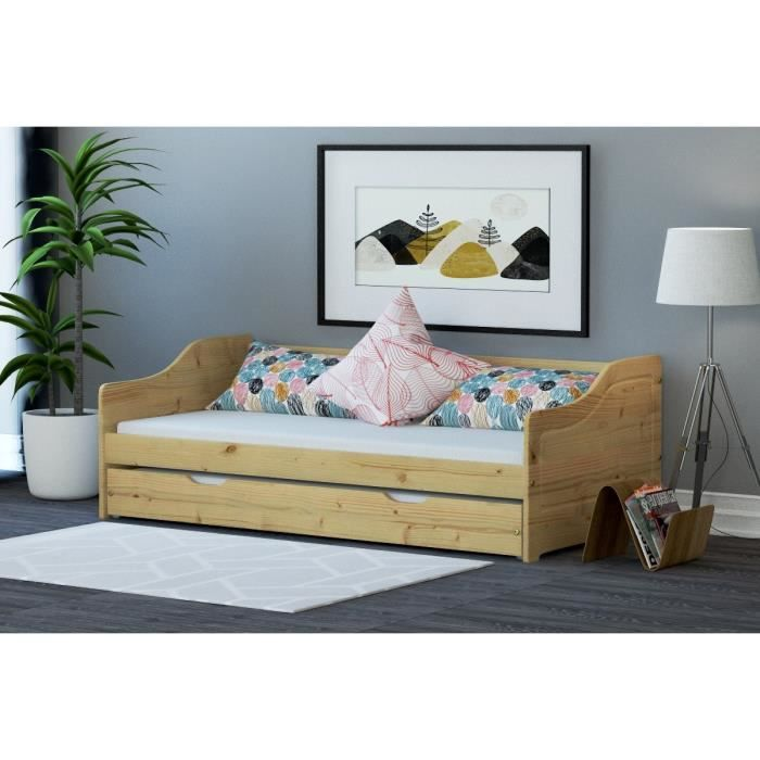 lit gigogne enfant achat vente lit gigogne enfant pas cher cdiscount. Black Bedroom Furniture Sets. Home Design Ideas