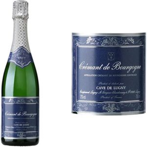VIN BLANC Cave de Lugny Crémant de Bourgogne Blanc vin blanc
