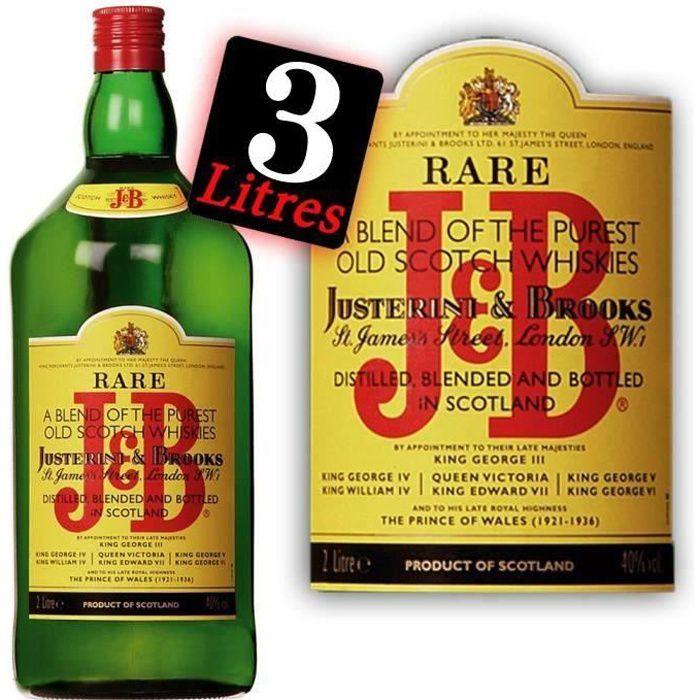 WHISKY BOURBON SCOTCH J & B Double Magnum 3 litres