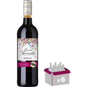 Apéritif à base de vin Bonne Nouvelle - Merlot - Rouge - Boisson à Base d
