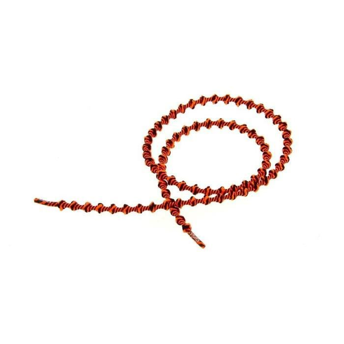 XTENEX Paire de lacets pour chaussures de sport Autobloquants 75 cm Noir et orange fluo