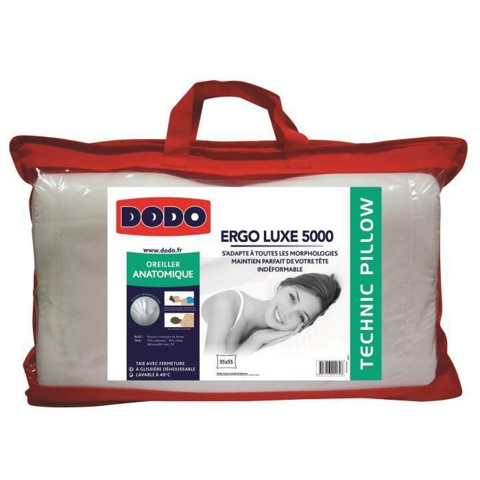 acheter un oreiller cervical DODO Oreiller anatomique à mémoire de forme GRAND CERVICAL 35x55cm  acheter un oreiller cervical