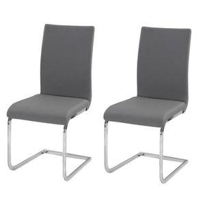 CHAISE LEA Lot de 2 chaises de salle à manger - Simili gr
